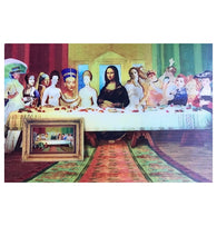 Lenticular Artists' Last Supper Animated 3-D Postcard