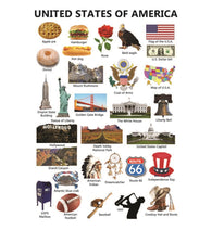 Icons of America USA Postcard