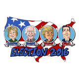 2016 Presidential Candidates Lantern Press Postcard