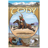 Montage Cody, Wyoming Lantern Press Postcard