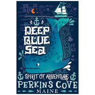 Quote Deep Blue See Spirit of Adventure Lantern Press Postcard