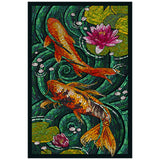 Mosaic Koi Pond  Lantern Press Postcard