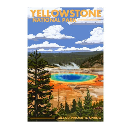 Yellowstone Prismatic Pool Lantern Press Postcard