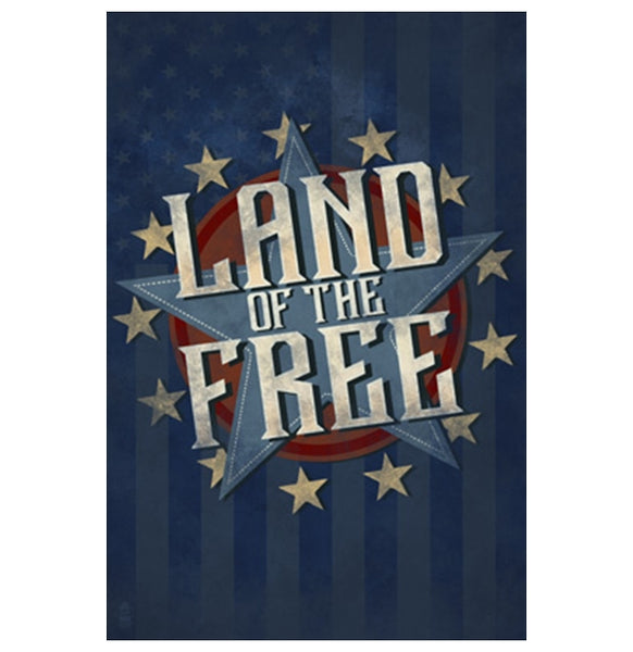 Land of the Free Star Lantern Press Postcard