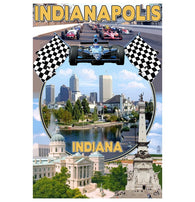 Indianapolis, IN Lantern Press Postcard