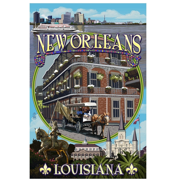 New Orleans, LA Lantern Press Postcard