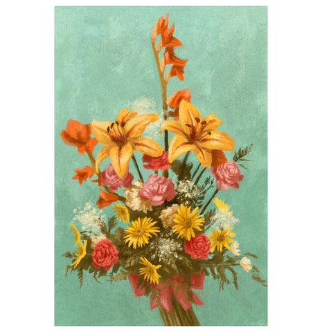Bouquet of Flowers Lantern Press Postcard