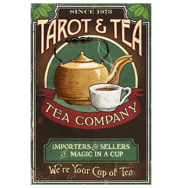 Tarot and Tea Lantern Press Postcard