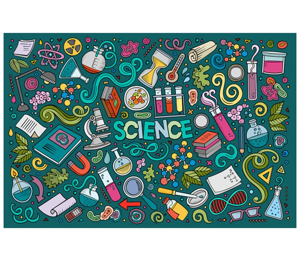 Science Icons Lantern Press Postcard
