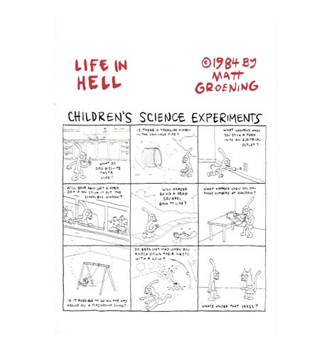 Children's Science Experiments Matt Groening Life in Hell Postcard