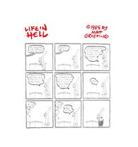 Flag Salute Matt Groening Life in Hell Postcard