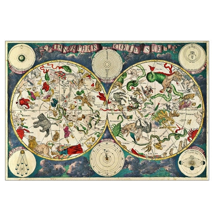 Antique Celestial Zodiac Map - MaxAndCoPost