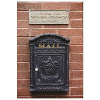 Antique US mailbox - Nothing Happened Here in 1897