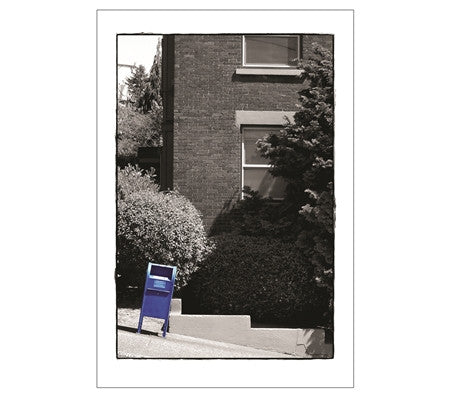Blue US Mailbox on a hill - Seattle, WA