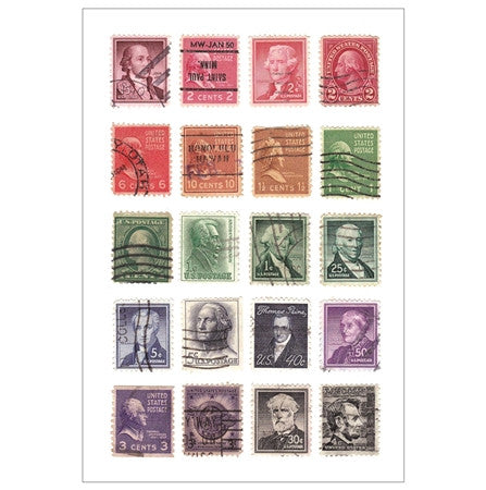 Rainbow Definitives Stamps with Presidents of the United States
