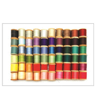 Rainbow Sewing Thread Spools Postcard