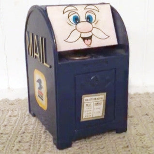 Vintage Mechanical USPS Mailbox Piggy Bank