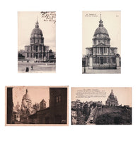 4 cartes postale antique Paris church postcards - Montmartre Sacre Coeur Dome des Invalides - French lot