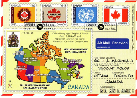 Postcard Bazaar Map Cover CANADA postcard