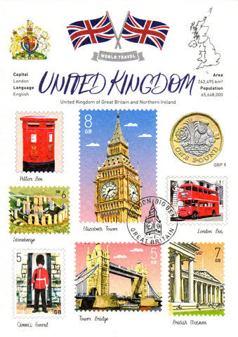 World Travel United Kingdom (WT) Postcard