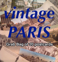 PARIS Cartes Postales - Grab Bag - lot of 20 antique postcards from France CARTES POSTALES anciennes