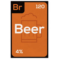 Periodic Table of Beverages  BEER Lantern Press Postcard