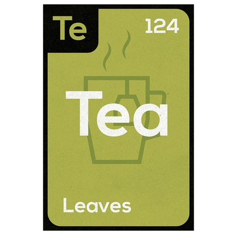 Periodic Table of Beverages  TEA Lantern Press Postcard