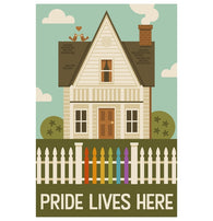 Pride Lives Here Lantern Press Postcard