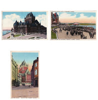 Lot of 3 antique Quebec City Canada postcards