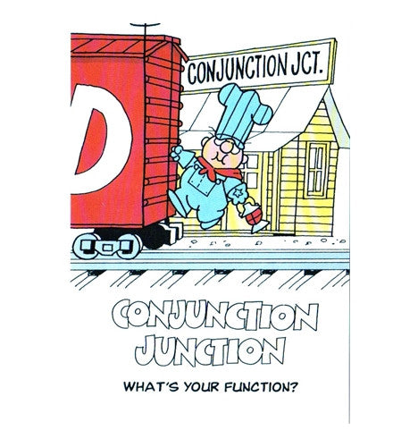 Conjunction Junction Schoolhouse Rock Cartoon Postcard
