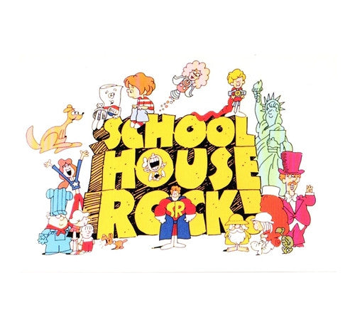 School House Rock Cartoon Postcard