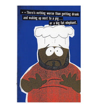 Chef Southpark Cartoon Postcard