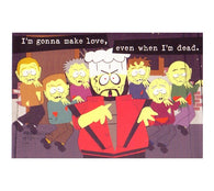Love Zombies   Southpark Cartoon Postcard
