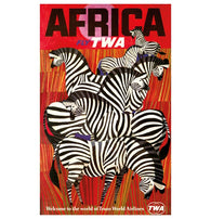 Retro TWA Travel Poster AFRICA Lantern Press postcard