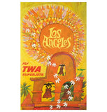 Retro TWA Travel Poster LOS ANGELES Lantern Press postcard