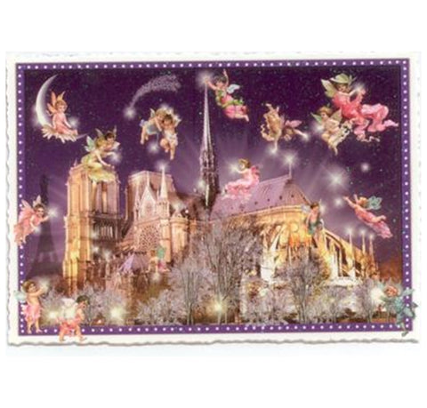 Glittery Tausendschoen Editions Angels in Paris Postcard