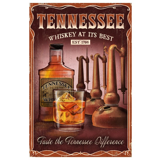 Tennessee Whiskey Lantern Press Postcard