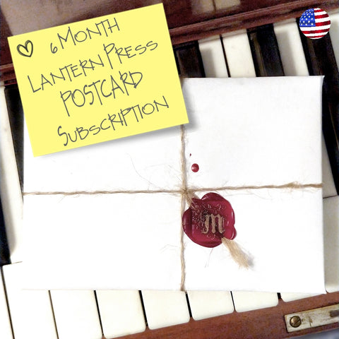 NEW!  6 Month Lantern Press Postcard Subscription - USA Only