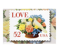 52¢ LOVE Dove Bouquet - 1994 - USPS Postage Stamp Postcard