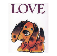 LOVE Puppy Dog with 20¢ pre-paid postage - USPS Postage Stamp Postcard