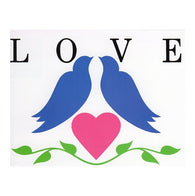 LOVE Bluebirds and Heart with 20¢ pre-paid postage - USPS Postage Stamp Postcard