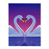LOVE Swans with 20¢ pre-paid postage - USPS Postage Stamp Postcard