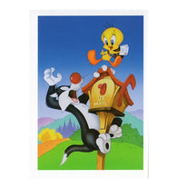 Sylvester Cat, Tweety Bird and Mailbox with 20¢ pre-paid postage - USPS Postage Stamp Postcard