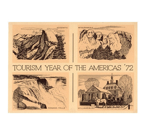 Tourism Year of the Americas with 6¢ pre-paid postage - 1972 -USPS Postage Stamp Postcard