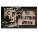 set 2 WEDDING romantic love antique french postcards cartes postales complemnts wishes congratulations bride groom