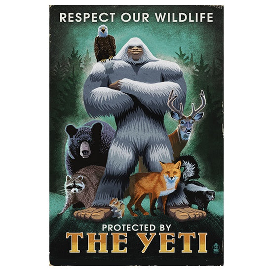 Protected by the Yeti Lantern Press postcard