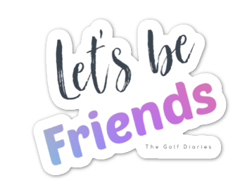 Let's be friends sticker - small