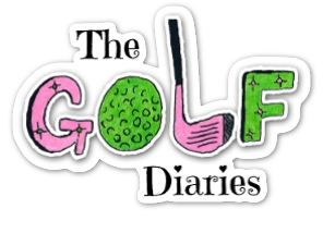 The Golf Diaries Logo Sticker from Book #1 -Large