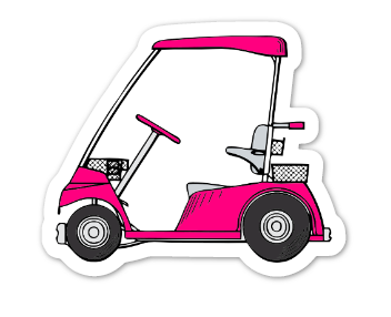 The Golf Diaries Logo Sticker - medium
