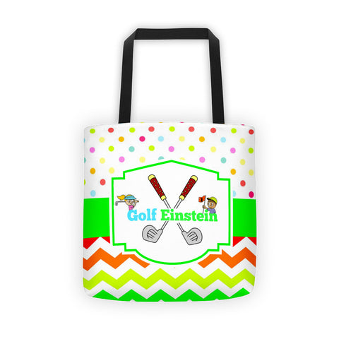 Golf Einstein 15 x 15 All over Tote bag